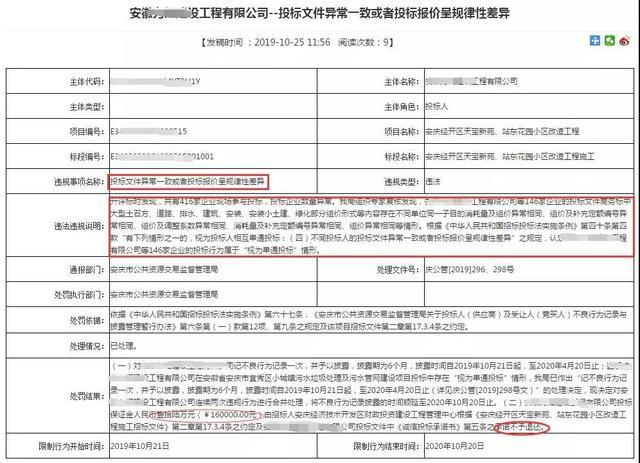安徽146家企业围标800多万的项目,被没收2336万投标保证金